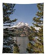 Grand Teton On Jenny Lake - Grand Teton National Park Wyoming Tapestry