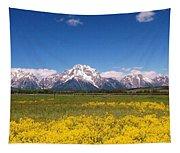 Grand Teton Wildflowers Tapestry