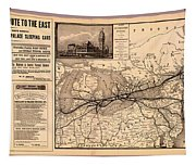 Grand Trunk Railway Map 1887 Tapestry