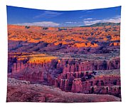Grand View Point Evening Panorama Tapestry