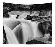 Granite Falls Black And White Tapestry
