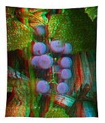 Grapes On The Vine - Use Red-cyan Filtered 3d Glasses Tapestry