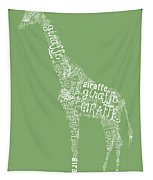 Graphic Giraffe Tapestry