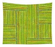Grassy Green Stripes Tapestry