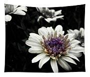 Gray Petals Tapestry