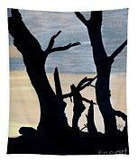 Gray Sunset Tapestry