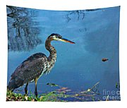 Great Blue Along The Canal Tapestry