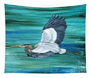 Great Blue Heron-3a Tapestry