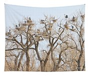 Great Blue Heron Colony Tapestry