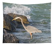 Great Blue Heron On The Prey Tapestry