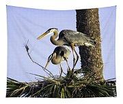 Great Blue Herons Nesting Tapestry