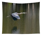 Great Blue Over Green Tapestry