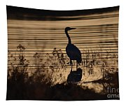 Great Blue Silhouette Tapestry