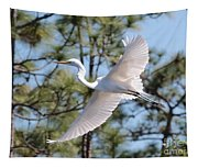 Great Egret Spirit Tapestry
