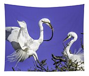 Great Egrets Nesting Tapestry