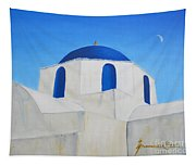Greek Island Church  Tapestry