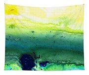 Green Abstract Art - Life Song - By Sharon Cummings Tapestry
