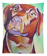 Green And Brown Dog Tapestry