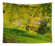 Green And Yellow Tapestry