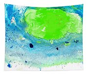 Green Blue Art - Making Waves - By Sharon Cummings Tapestry
