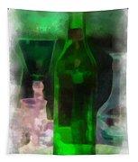 Green Bottle Photo Art Tapestry