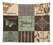 Green Brown Wtlb 2 Tapestry