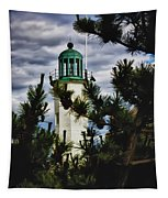 Green Copper Lantern Room On Scituate Lighthouse Tapestry