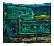 Green Dodge Tapestry