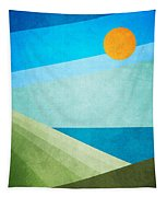 Green Fields Blue Waters Tapestry