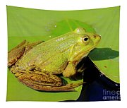 Green Frog 2 Tapestry