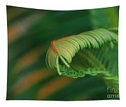 Green Frond  Abstract Tapestry