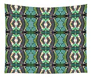 Green Geometric Abstract Pattern Tapestry
