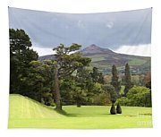 Green Green Garden And Mountain Tapestry