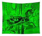 Green Horse Tapestry