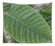 Green Leaf Macro Tapestry