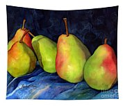 Green Pears Tapestry