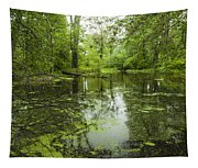 Green Blossoms On Pond Tapestry