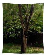 Green Tree In Park Tapestry