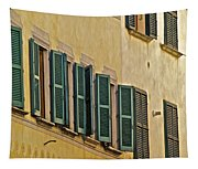 Green Window Shutters Of Florence Tapestry