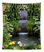 Greenhouse Garden Waterfall Tapestry