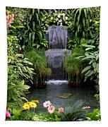 Greenhouse Garden Waterfall Tapestry