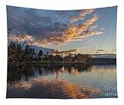 Greenlake Autumn Sunset Tapestry