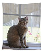 Gretchen Sitting In The Window Tapestry