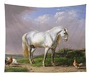 Grey Stallion Tapestry