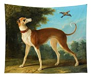 Greyhound In A Landscape Tapestry