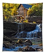 Grist Mill In Babcock State Park West Virginia Tapestry
