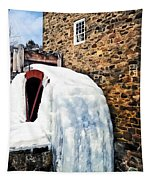 Grist Mill In Winter Tapestry
