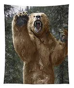 Grizzly Bear Attack On The Trail Tapestry