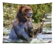 Grizzly Bear Photo Art 02 Tapestry