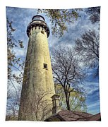 Grosse Point Lighthouse Color Tapestry